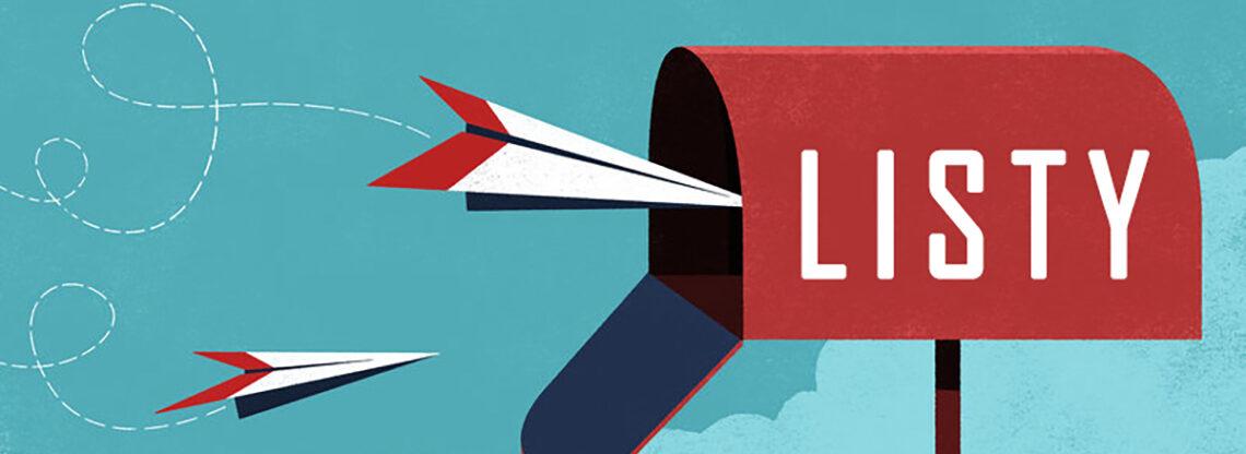 Na obrazku widać skrzynkę pocztową i wlatujące do niej listy poskładane w samolociki