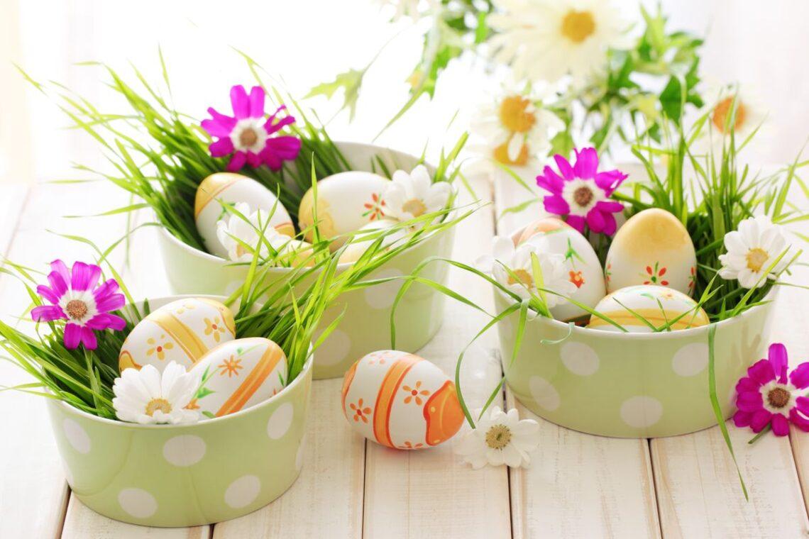 Obrazek przedstawia Wielkanocny koszyczek
