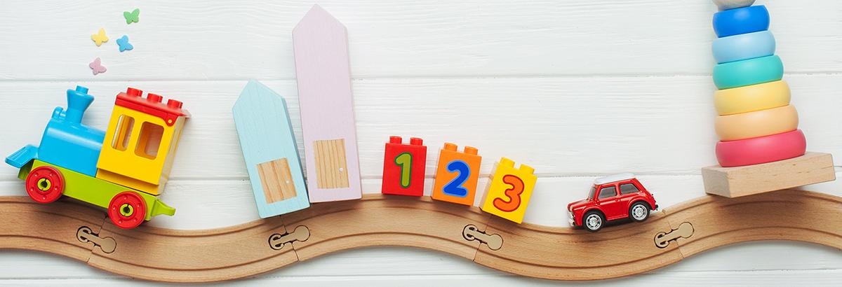 Obrazek dekoracyjny przedstawiający zabawki dziecięce
